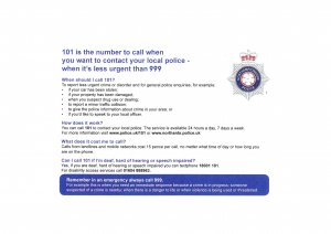 Contact Northamptonshire Police in South Northants