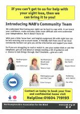 Northamptonshire Association for the Blind Community Team