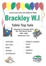Brackley WI - Table Top Sale