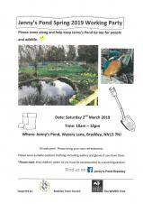 Jenny's Pond Working Party 2019