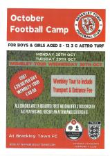 Brackley Town Football Club - October Football Camp