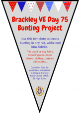 Brackley VE Day 75 Community Bunting Project