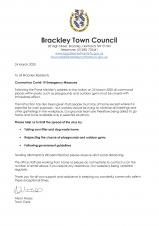 Letter to Residents