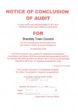 Council Audit Completed