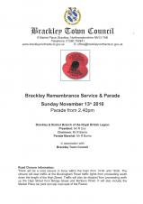 Brackley Remembrance Parade & Service