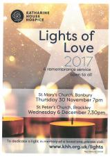 Katharine House Hospice Lights of Love Service